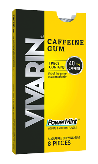 Vivarin Caffeine Gum in a powerful PowerMint flavor